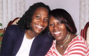 Claudine Johnson and her mother