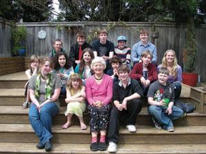 Betsy Bell and her 17 grandchildren