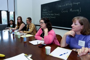 Club and affinity group representatives discuss new initiatives for their organizations