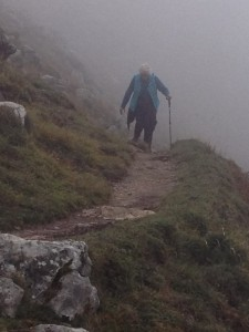 El Camino Mary on trail in Asturias