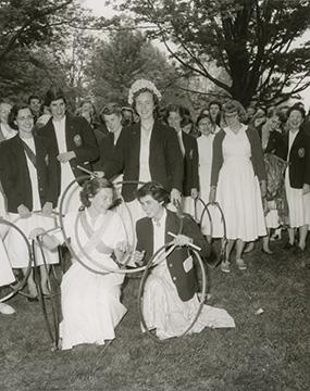 Hoop Rolling, 1954.