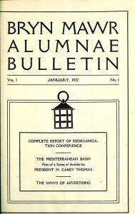 Bryn Mawr Alumnae Bulletin 1921_Cover